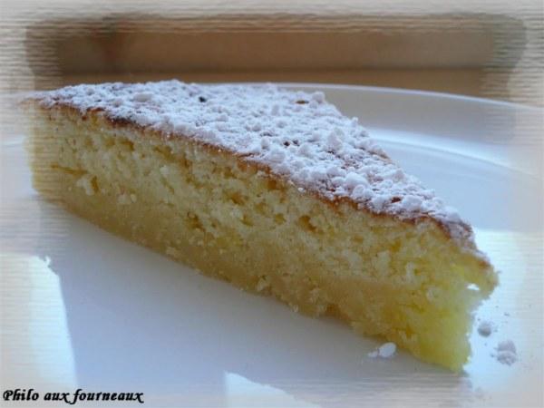 Gâteau mousseux au citron