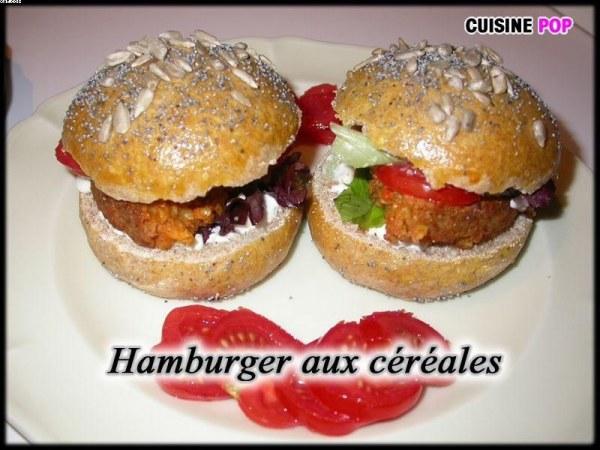 Hamburger aux céréales