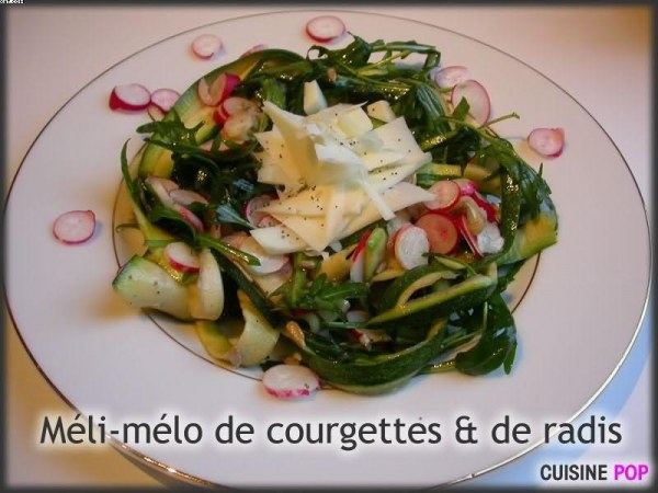 Méli-mélo de courgettes & radis roses