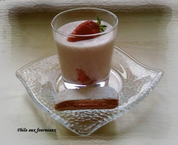 Mousse biscuitée à la fraise