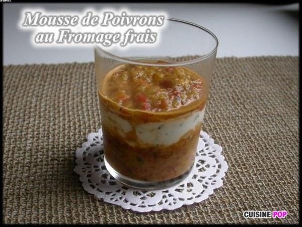 Mousse de Fromage frais aux Poivrons