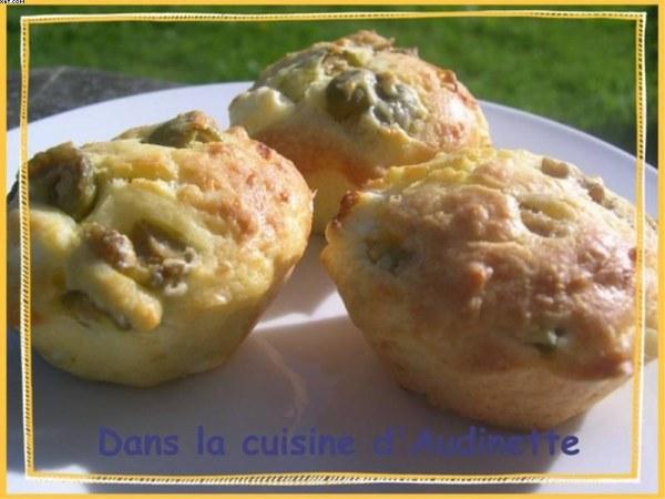 Muffins aux Olives et à la Feta