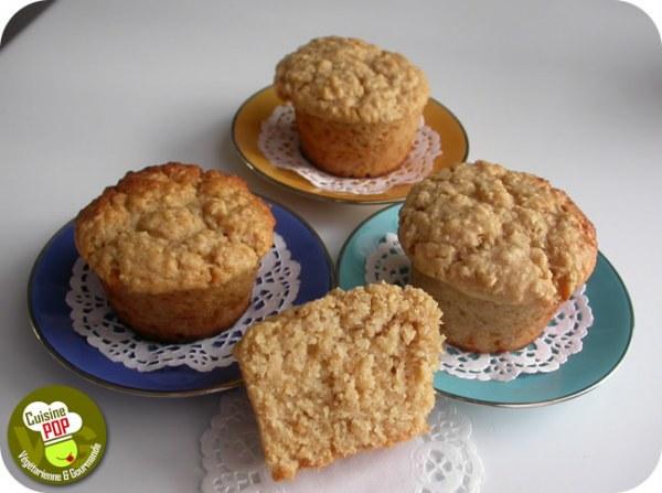 Muffins aux flocons d'avoine, à la pomme et au sirop d'érable