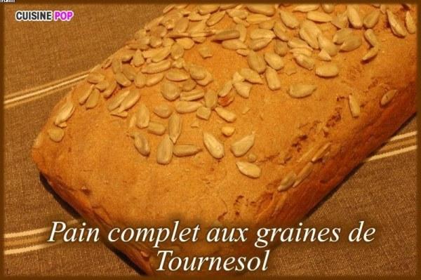 Pain complet aux graines de Tournesol