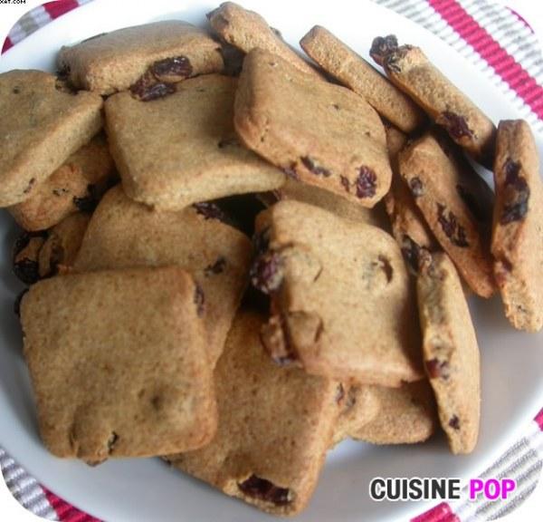 Palets carrés Raisins-Cannelle