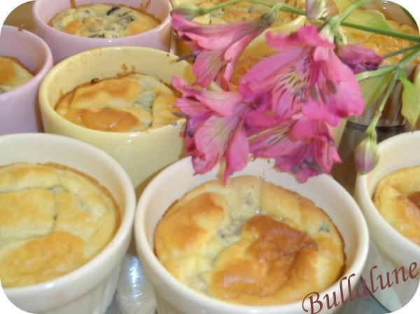 Soufflés de blettes à la ciboulette et au parmesan