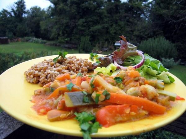 Pilaf de petit épeautre aux légumes