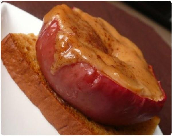 Pommes rôties et son puits de caramel