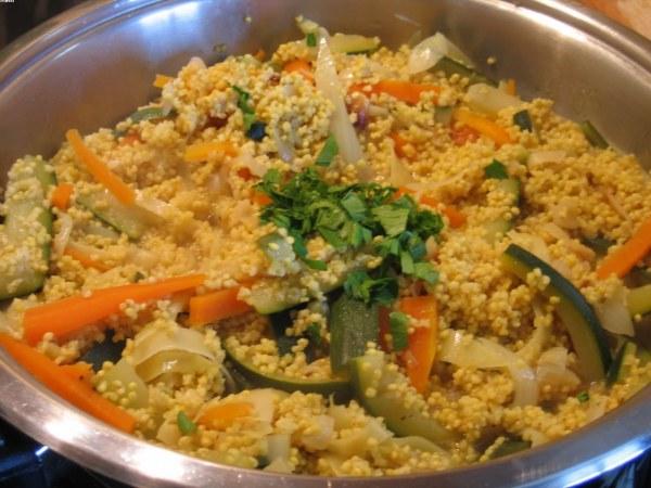 Risotto de millet aux légumes
