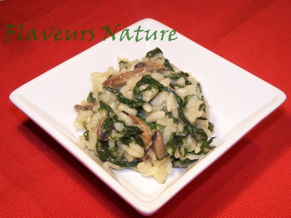 Risotto épinard champignon