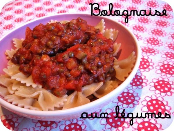 Sauce Bolognaise aux légumes