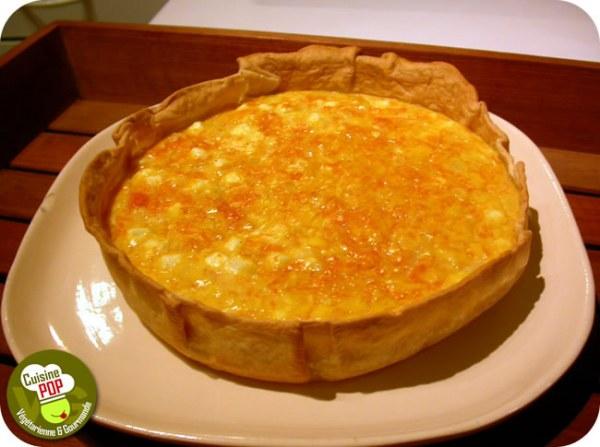 Quiche au potiron et au fromage de brebis
