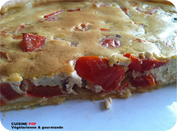 Tarte fromagère tomates figues