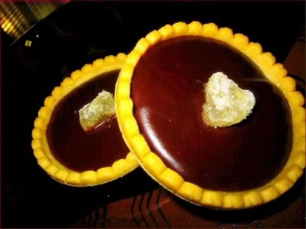 Tartelettes à la mangue et au chocolat
