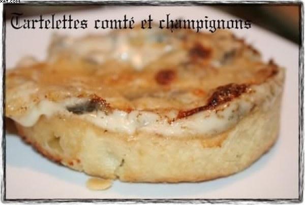 Tartelettes comté & champignons