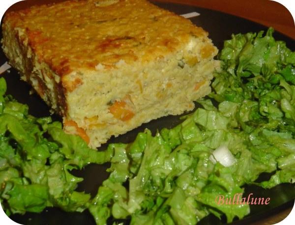 Terrine millet,carottes et coriandre