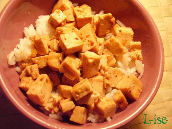 Tofu à la confiture d'églantine