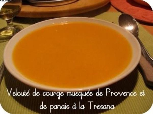 Velouté de courge musquée de Provence et de Panais à la Tresana