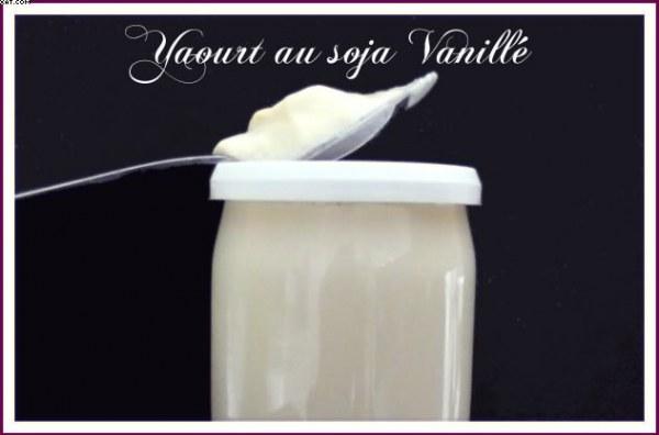 Yaourts au soja vanillé