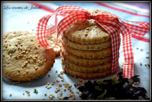 Biscuits au sésame et aux algues