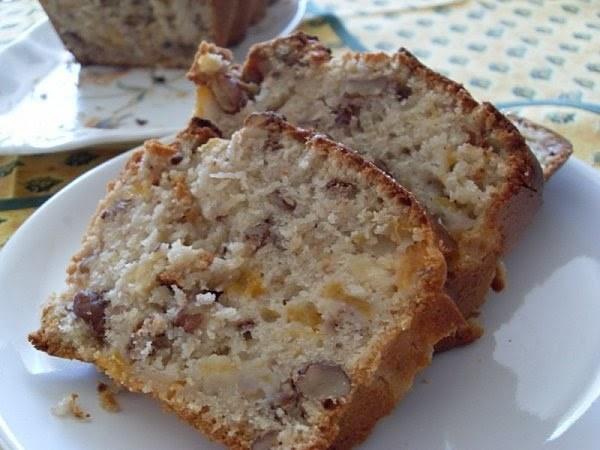 Cake abricots aux noix