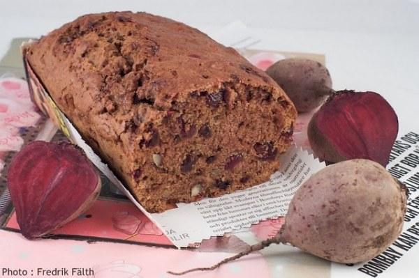 Cake ambré aux pépites de betteraves