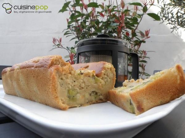 Cake fondant pommes-kiwis - Végétalien