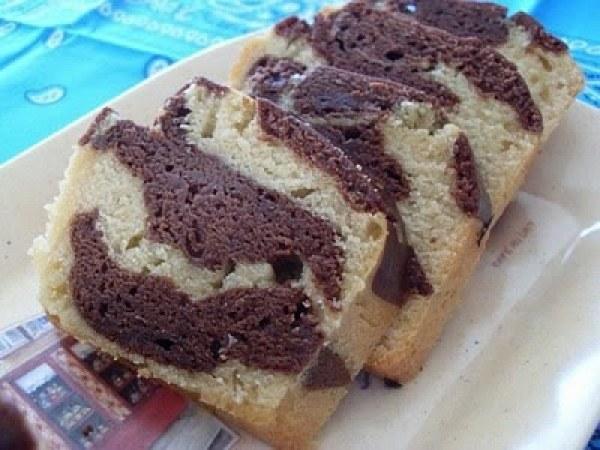 Cake marbré, chocolat vanille (Vegan)