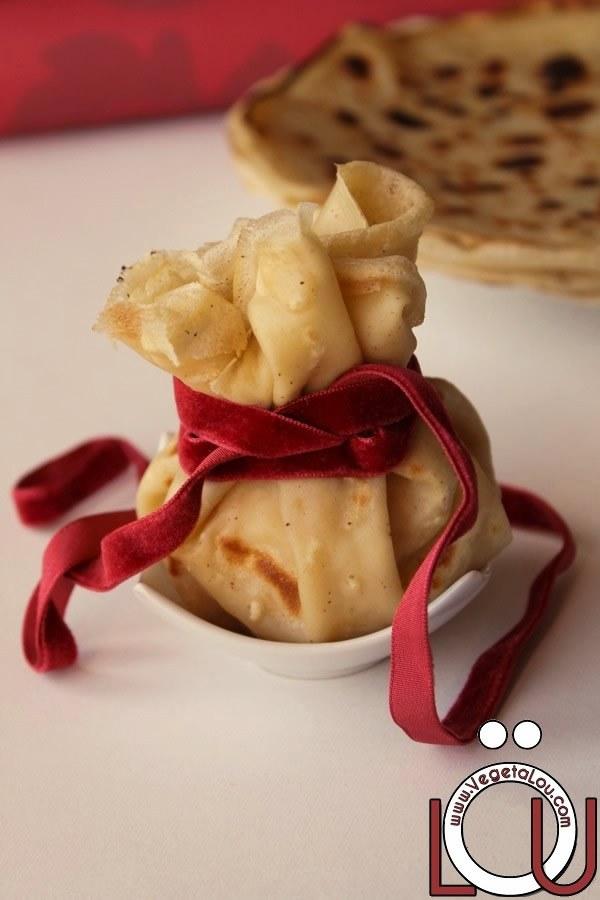 Aumônière pomme-gingembre-sirop d'érable
