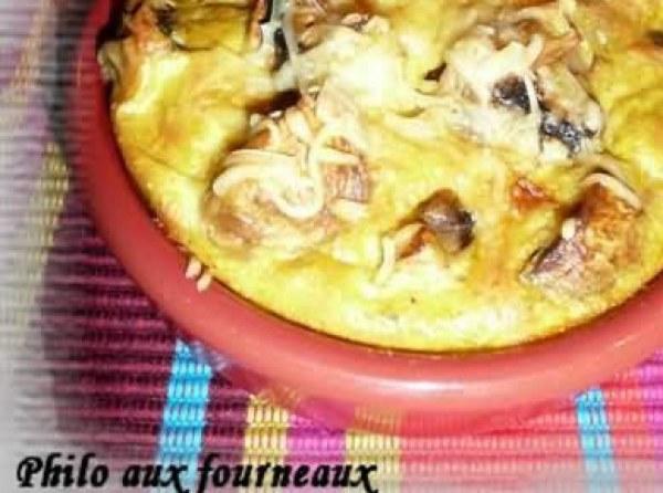 Clafoutis aux champignons de Paris