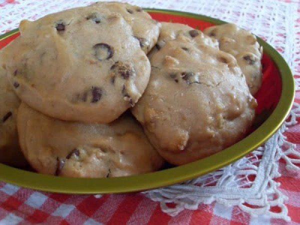 Cookies, noix et pépites de chocolat au lait (Vegan)
