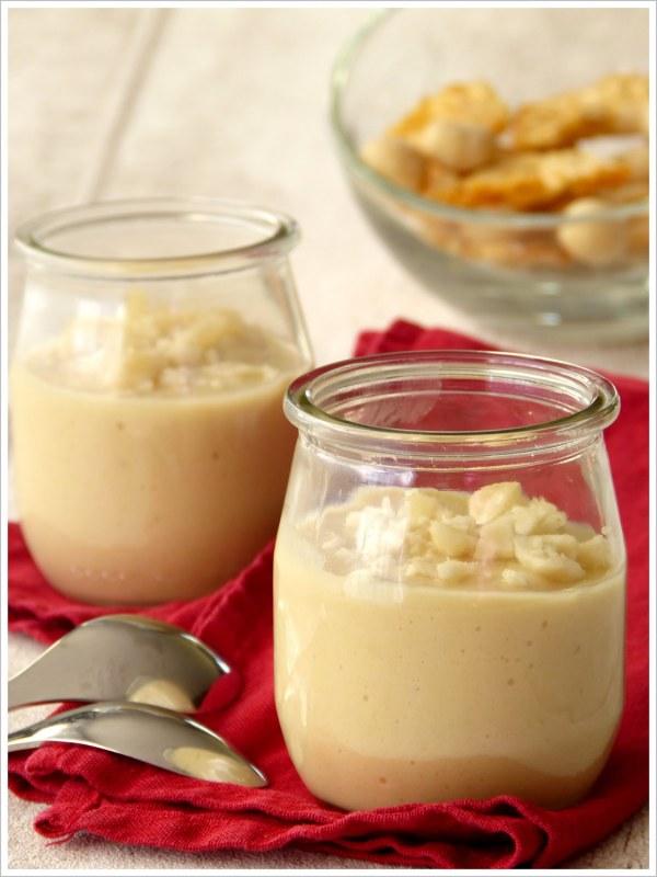 Crème à l'ananas, lucuma et noix de macadamia