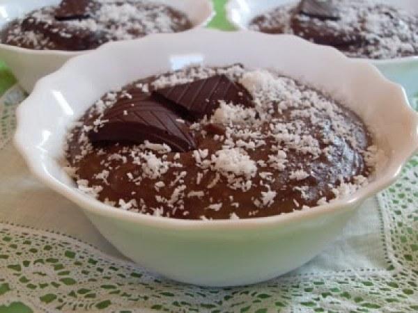 Crème chocolat, noix de coco et crème de marrons ( vegan)