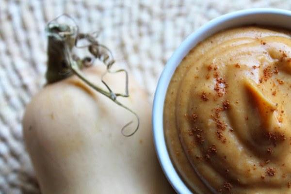 Crème douce à la butternut, marron et noisette