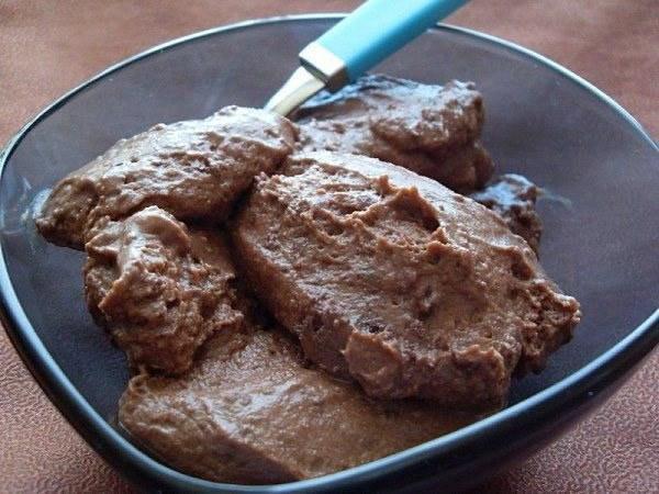 Mousse au chocolat à la crème de marrons