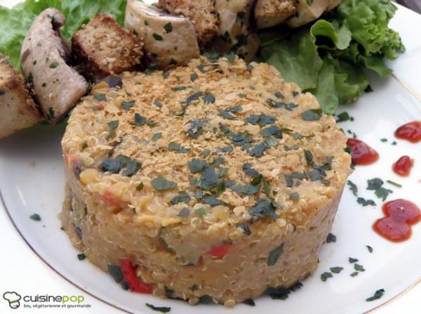 Duo de quinoa et lentilles corail à la ratatouille