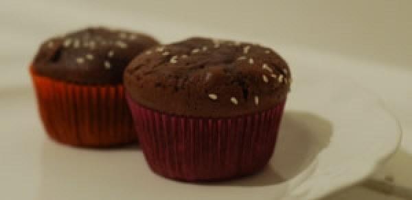 Fondants au chocolat, à la purée d'amande et aux graines de courge