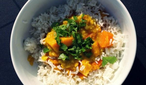 Kitchari aux carottes et patates douces