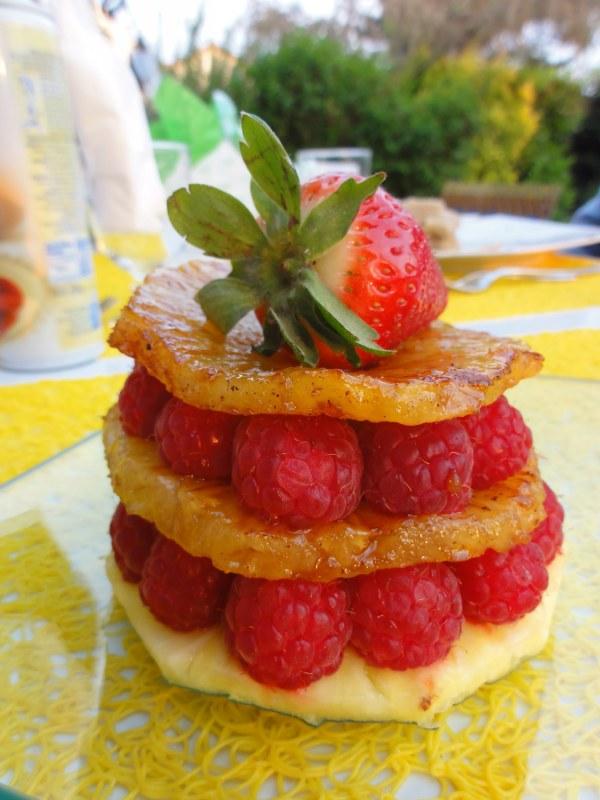 Mille-feuille Ananas Framboises