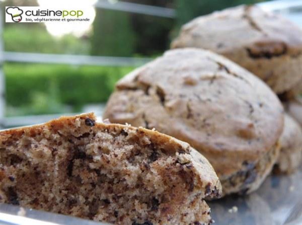 Mini-cakes à la farine de châtaigne et au chocolat ( végétalien)