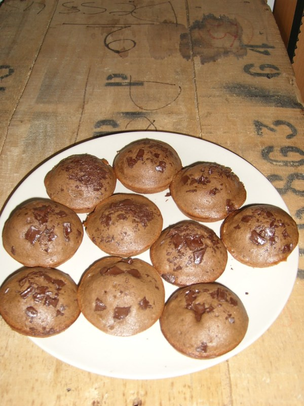 Muffin au chocolat et pépites de chocolat Sans Gluten et Sans Lait