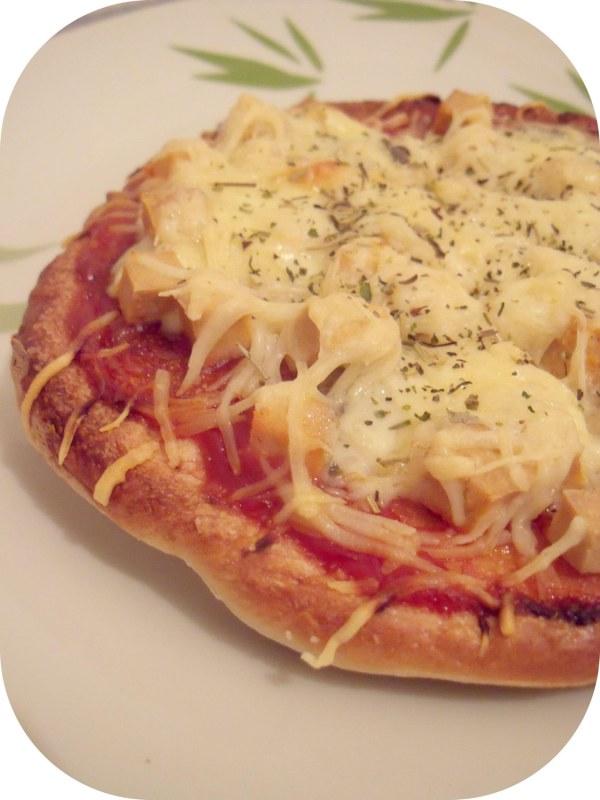Pizza pita roquefort-tofu