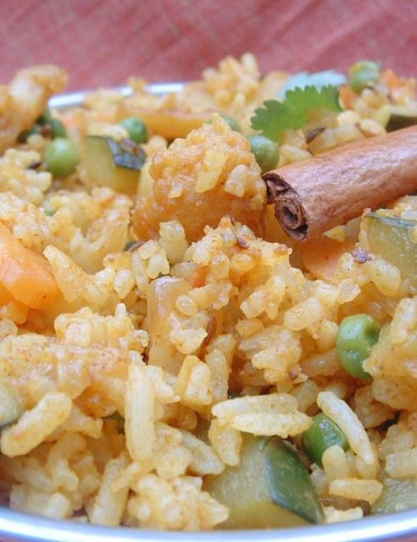 Recette indienne Pulao riz aux légumes