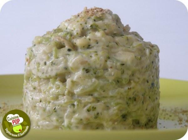 Risotto au brocoli et à la crème de sésame