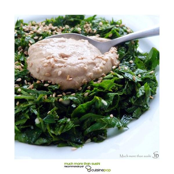 Salade de persil et purée de sésame