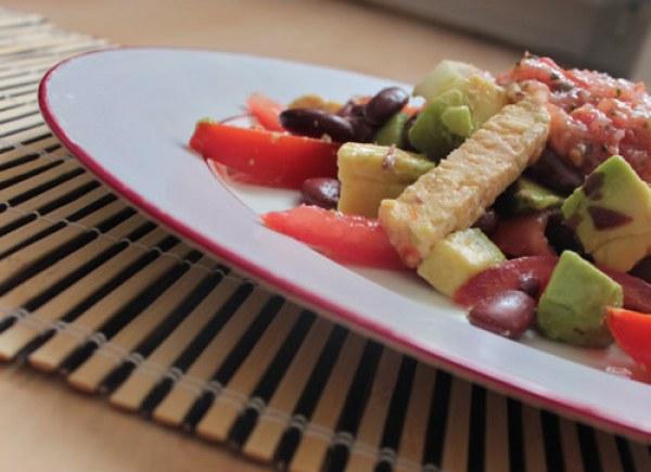 Salade mexicaine au tempeh
