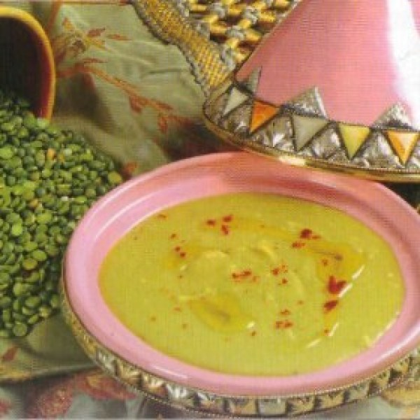 Soupe aux petits pois secs à la marocaine