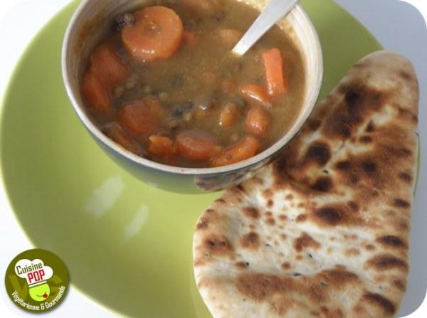 Soupe aux lentilles et aux carottes