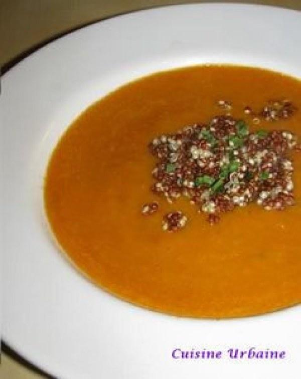 Soupe de légumes et quinoa