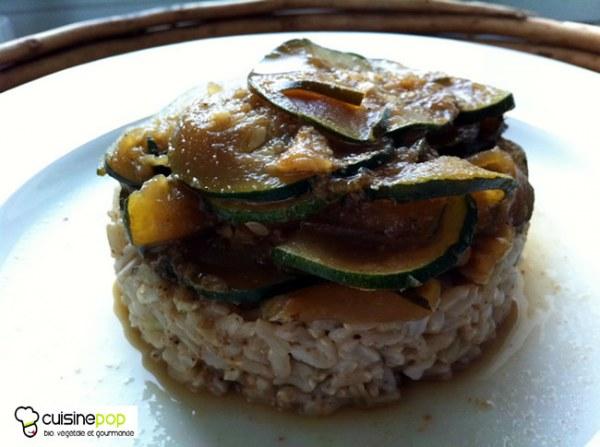 Sucré-salé de riz aux courgettes